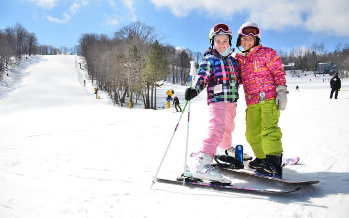 Kids skiing at Hidden Valley