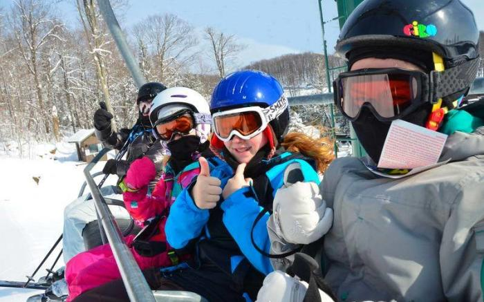 Seven Springs chairlift family