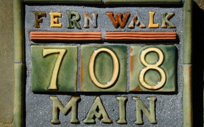 Mercer Tile Sign on Front Porch