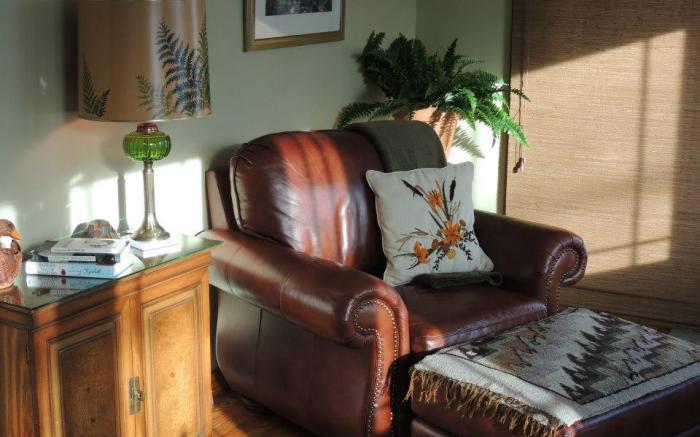 Sunroom reading chair