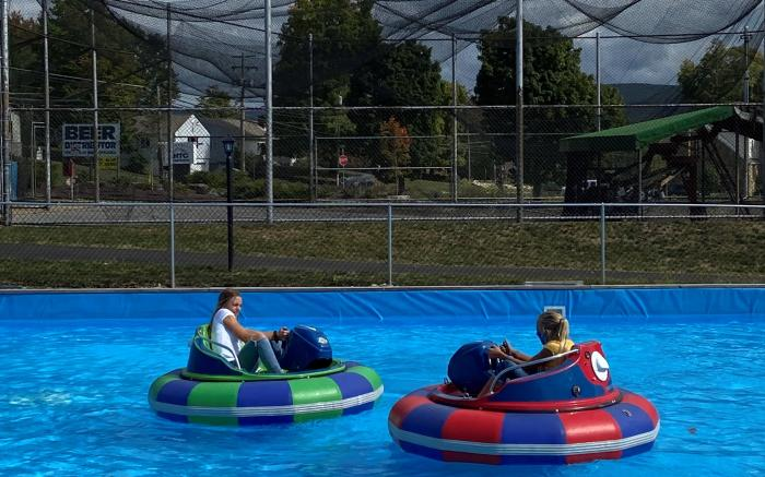 Cool off and have some fun on our Bumper Boats complete with built in squirt-guns!