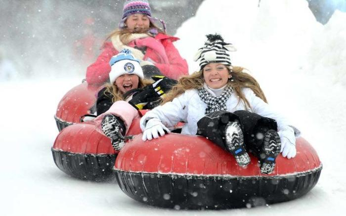 Snow Tubing at Seven Springs Mountain Resort