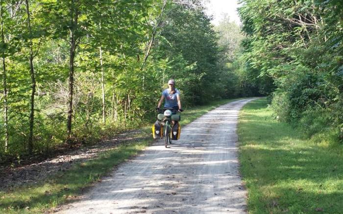 Great Allegheny Passage rider