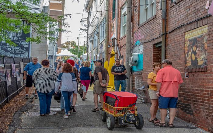WCT's Art in the Alley