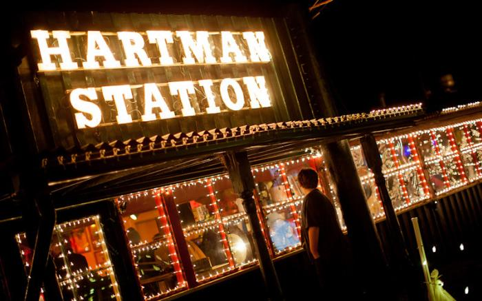 Hartman Station -- Model Train Display