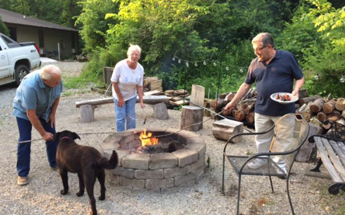 firepit and friends
