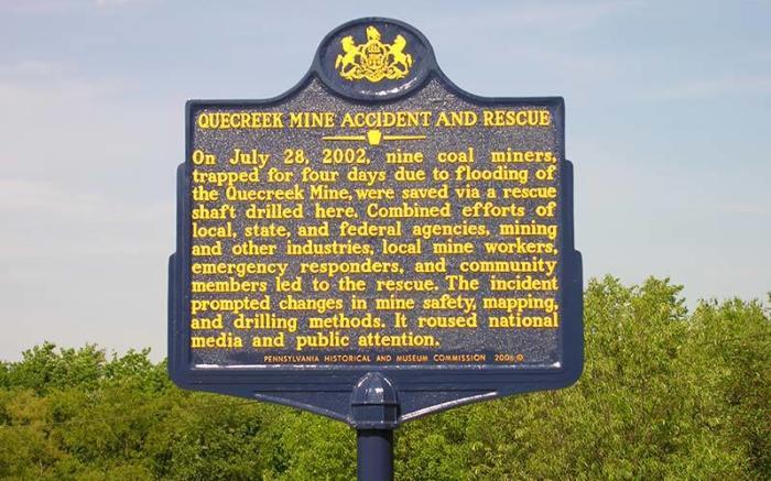 Quecreek Mine Rescue Site