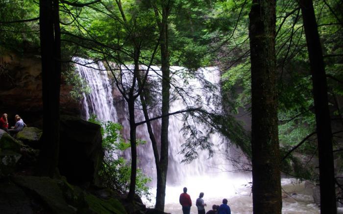 Cucumber Falls in the springtime