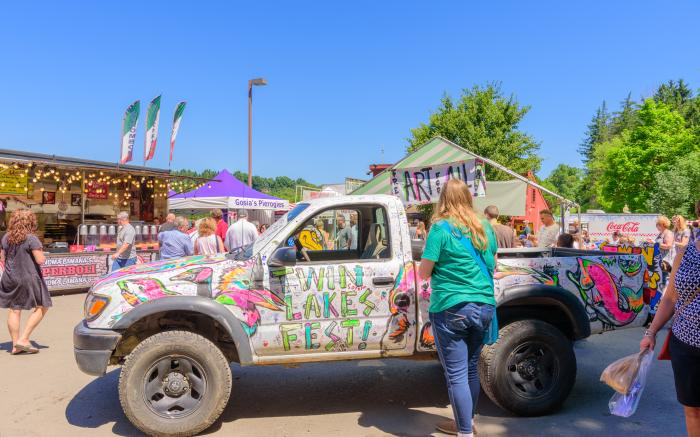 Artist Raphael Pantalone's Truck Painted by Visitors