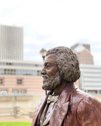 Frederick Douglass Replica Statue in Rochester, NY