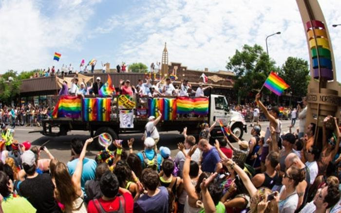 crowd at the Chicago Pride Parade