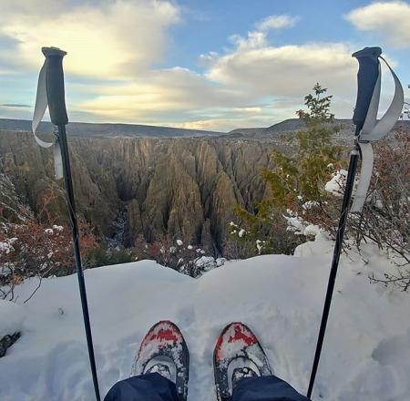 Cross country skiing at Black Canyon National Park