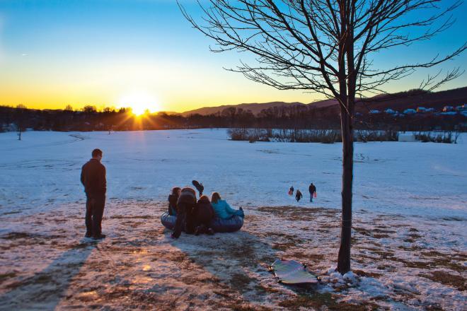 Salem VA Snow Sledding
