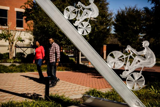 Bicycle Art Sculpture - Elmwood Park - Downtown Roanoke