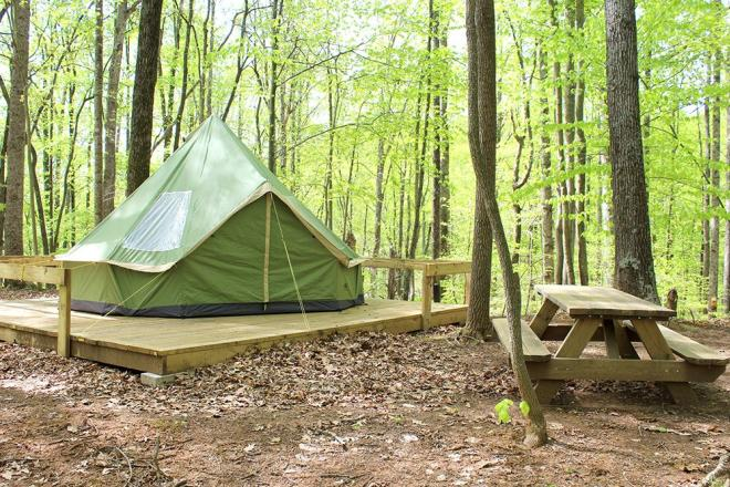 Explore Park - Bell Tent Camping
