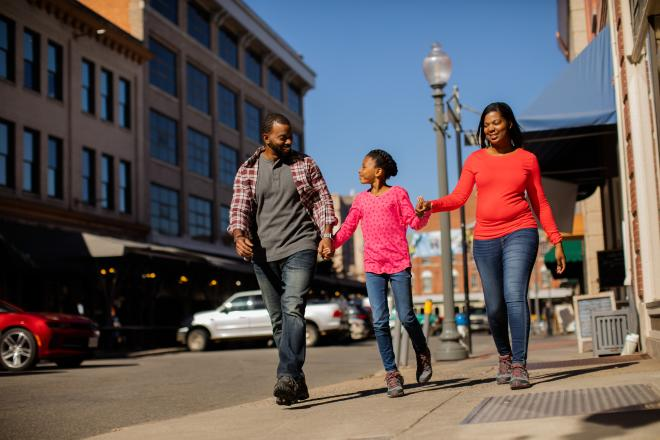 Family in Downtown Roanoke