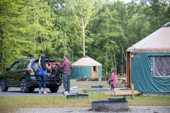 Explore Park - Yurts for Camping - Family Vacation