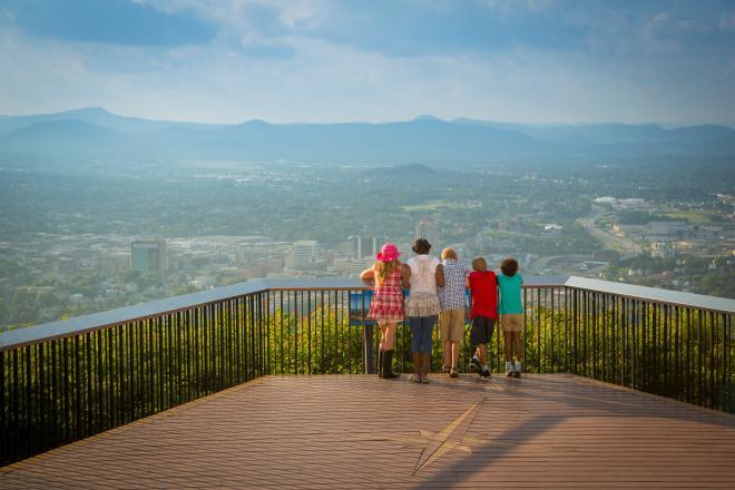 Kids at Mill Mountain Overlook