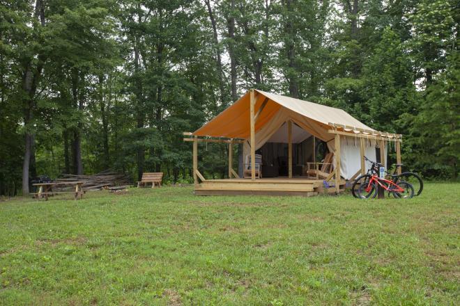 Roanoke County Explore Park - Canvas Tent Camping