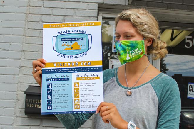 Virginia's Blue Ridge Stay Safe Pledge - Poster