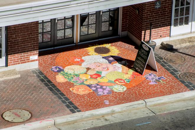 Tile Mosaic - City Market Building, Downtown Roanoke