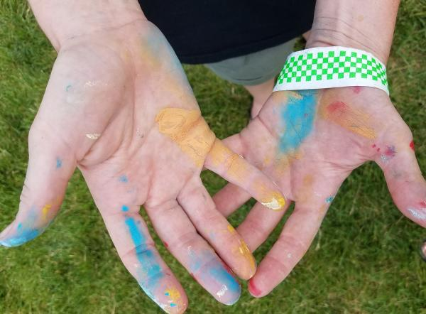 Painter's hands