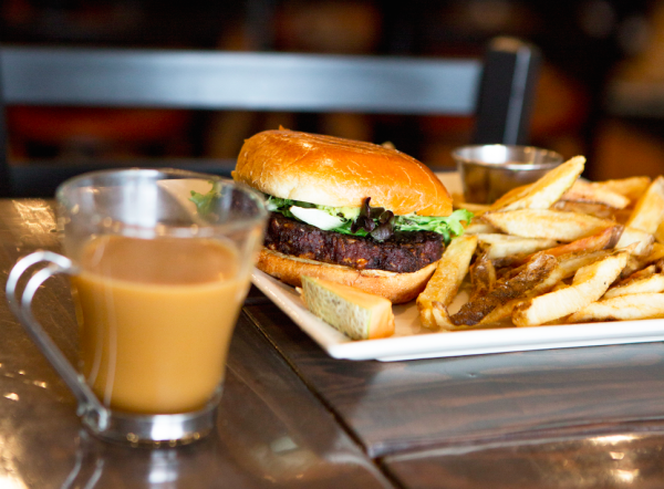 The French Press Blackbean Burger