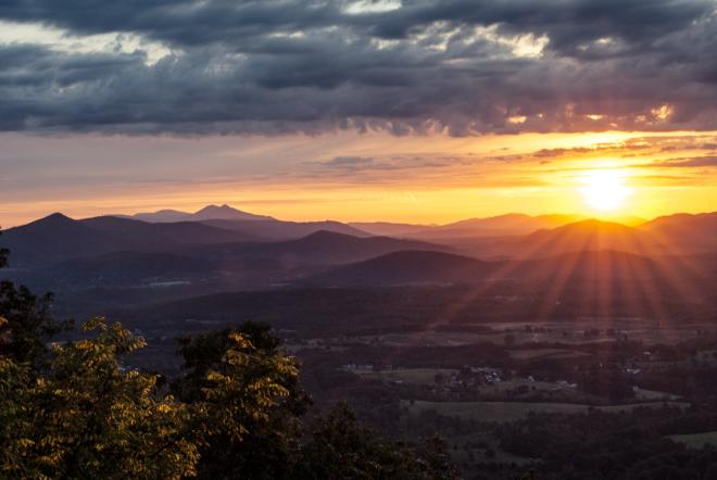 Roanoke Mountain Sunrise