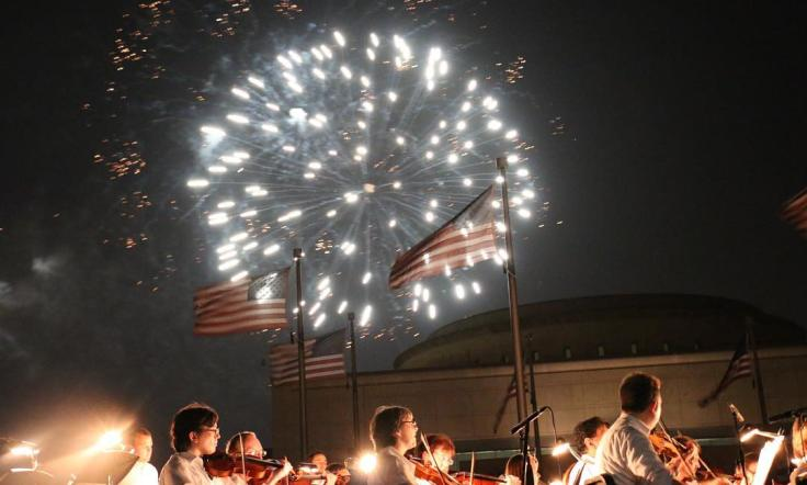 Bush Library Fireworks & Orchestra