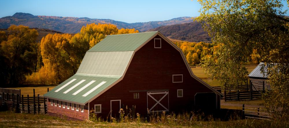Ranch in the fall outside steamboat springs