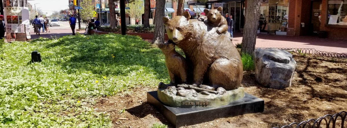 Bear Sculpture on Pearl Street in Boulder