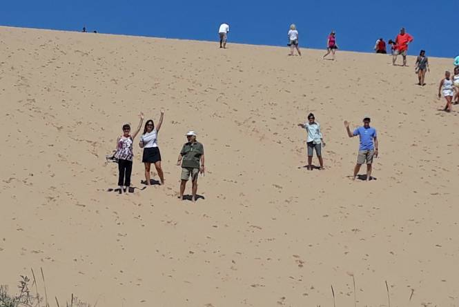 Tackling the Dune Climb