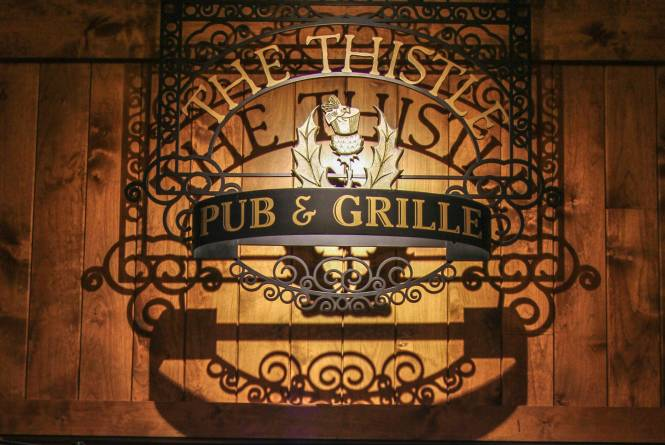 Dining at Thistle Pub and Grille
