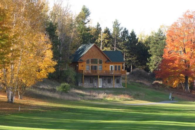 Cabin in fall