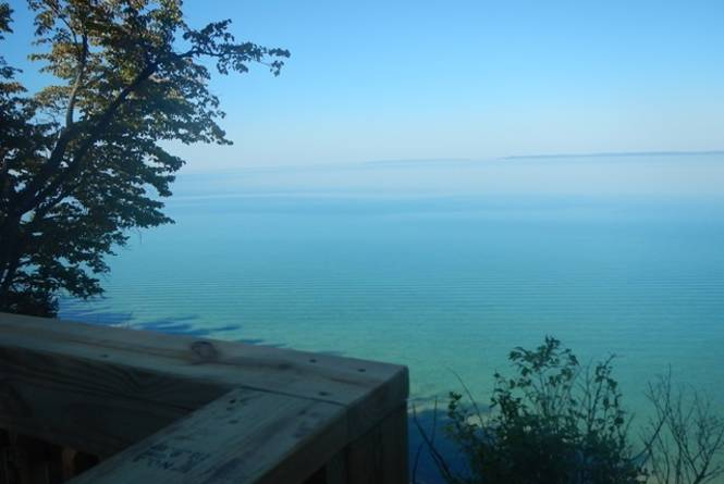 Clay Cliffs overlook - photo credit to Leelanau Conservancy