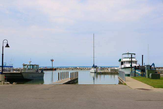 Leland Marina Boat Launch