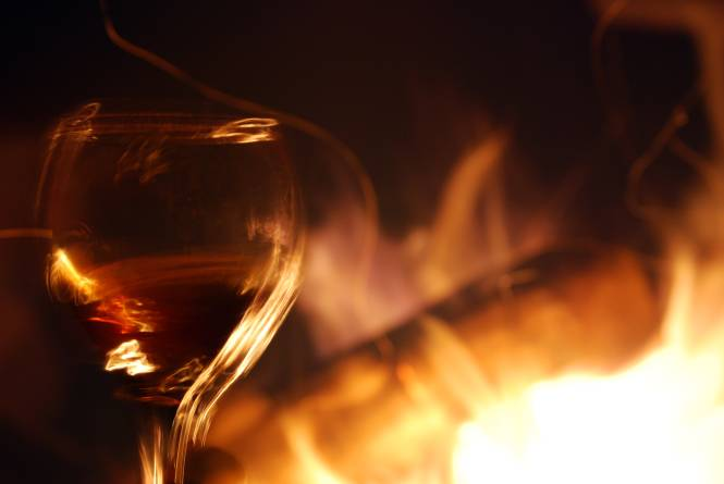 Campfire and Wine