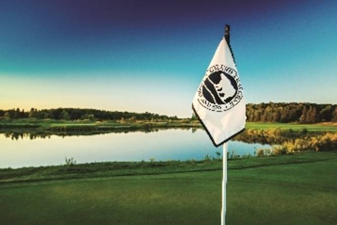 Grand Traverse Resort and Spa Flag on the Golf Course