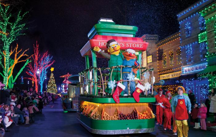 Christmas Parade at Sesame Place