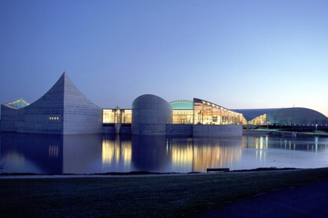 View of Exploration Place across the water
