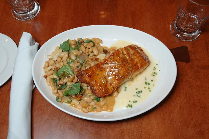 Try the mustard salmon at chester's chophouse & wine bar in wichita ks
