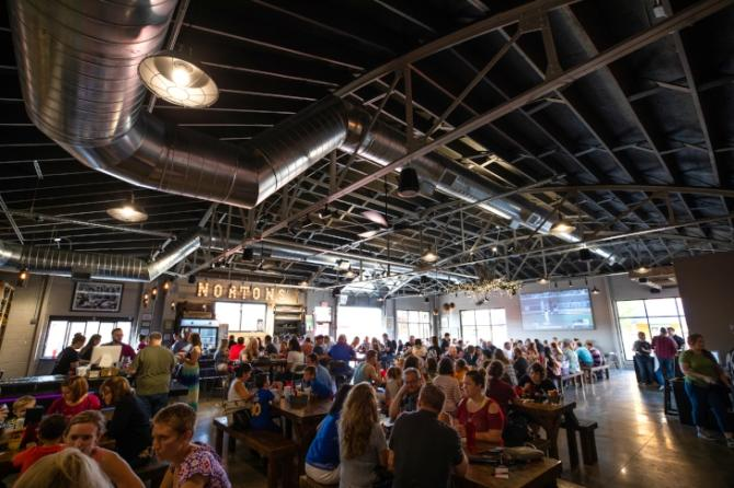 Crowds gather to enjoy Norton's Brewing Company, one of the 11 breweries in Wichita KS