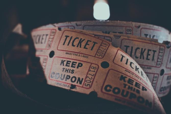 Generic tickets - stock photo