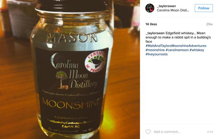 Carolina Moon Distillery on Instagram