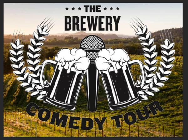 logo for the brewery comedy tour, happening March 8, 2019 at Wooden Cask Brewing Company in Newport Kentucky
