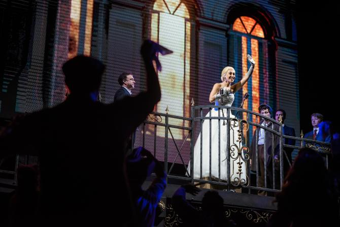 Evita performance at the American Theatre Guild