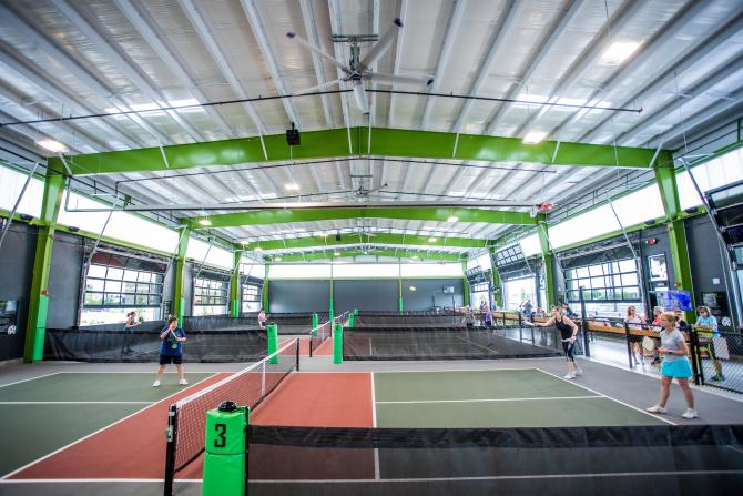 Pickle Ball Courts at Chicken N Pickle