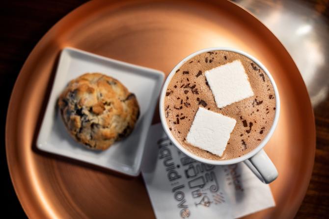 Hot Chocolate at Cocoa Dulce Chocolates