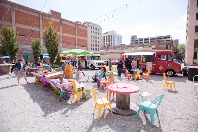 Food Truck Lunch at ICT Pop-Up Urban Park