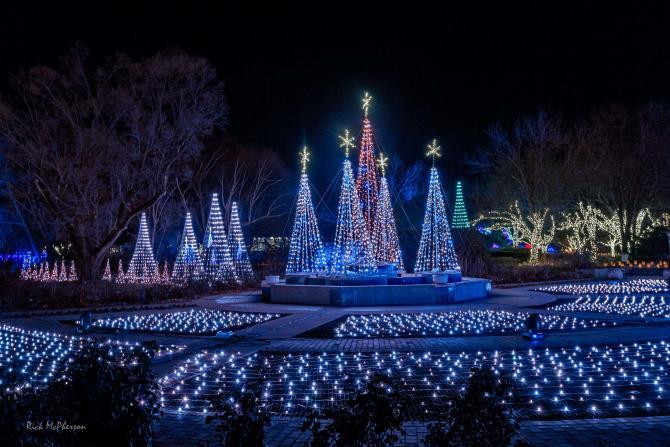 Botanica Wichita has 1 million lights during Illuminations Botanica in Wichita KS